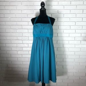 Alfred Angelo Cocktail Length Teal Dress